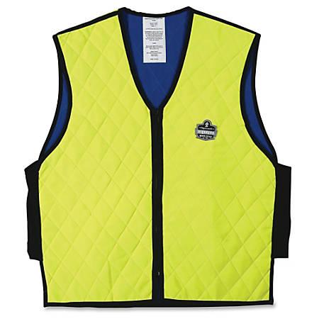 Ergodyne® Chill-Its® 6665 Evaporative Cooling Vest, Large, Lime/Black