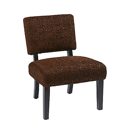 Chocolate Brown Accent Chairs.Ave Six Jasmine Accent Chair Maze Chocolate Dark Brown Item 938339