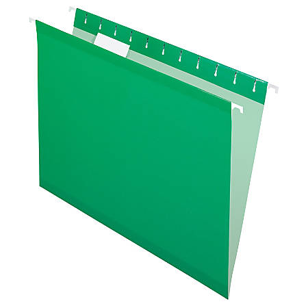Pendaflex® Premium Reinforced Color Hanging Folders, Letter Size, Bright Green, Pack Of 25