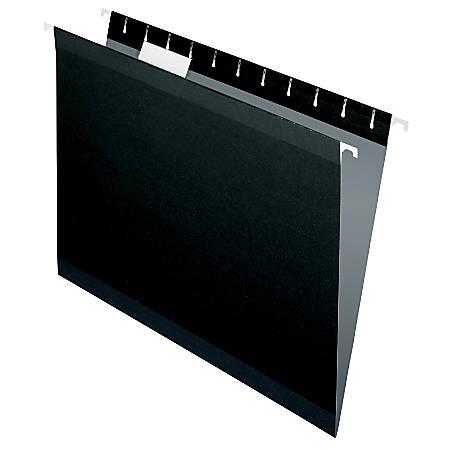 Pendaflex® Premium Reinforced Color Hanging Folders, Letter Size, Black, Pack Of 25