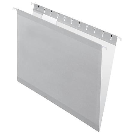 Pendaflex® Premium Reinforced Color Hanging Folders, Letter Size, Gray, Pack Of 25