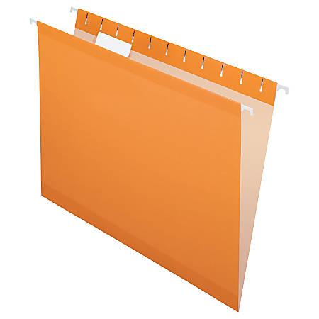 Pendaflex® Premium Reinforced Color Hanging Folders, Letter Size, Orange, Pack Of 25