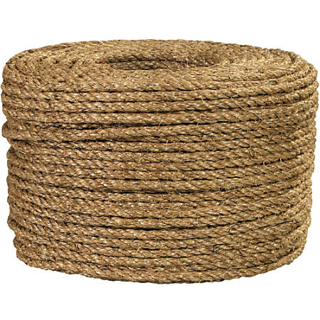 "Office Depot® Brand Manila Rope, 1,200 Lb, 3/8"" x 600', Manila"