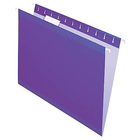 Pendaflex® Premium Reinforced Color Hanging Folders, Letter Size, Violet, Pack Of 25