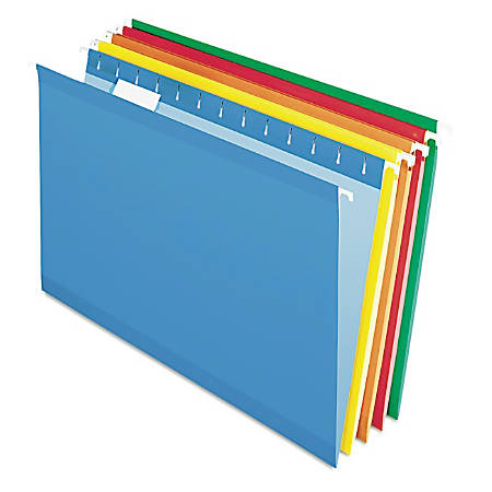 Pendaflex® Premium Reinforced Color Hanging Folders, Legal Size, Assortment #1, Pack Of 25