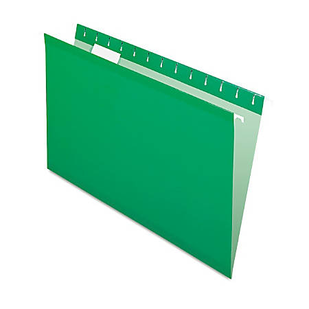 Pendaflex® Premium Reinforced Color Hanging Folders, Legal Size, Bright Green, Pack Of 25