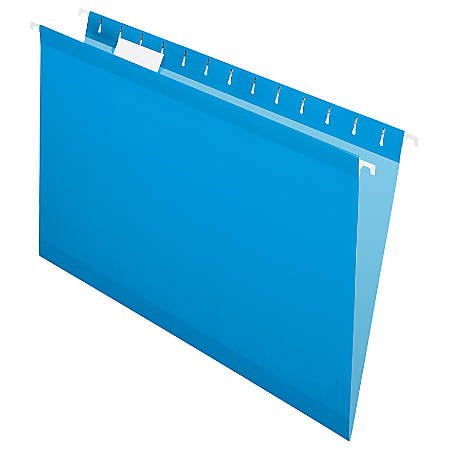 Pendaflex® Premium Reinforced Color Hanging Folders, Legal Size, Blue, Pack Of 25