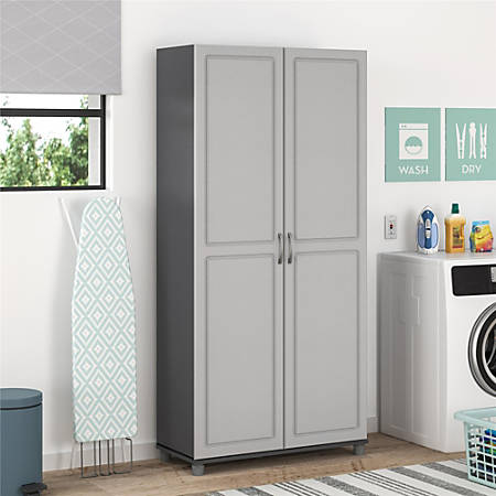 "Ameriwood™ Home Kendall 36"" Utility Storage Cabinet, 5 Shelves, Gray"