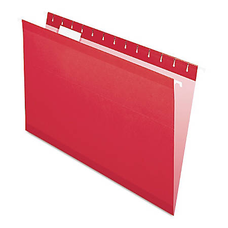 Pendaflex® Premium Reinforced Color Hanging Folders, Legal Size, Red, Pack Of 25