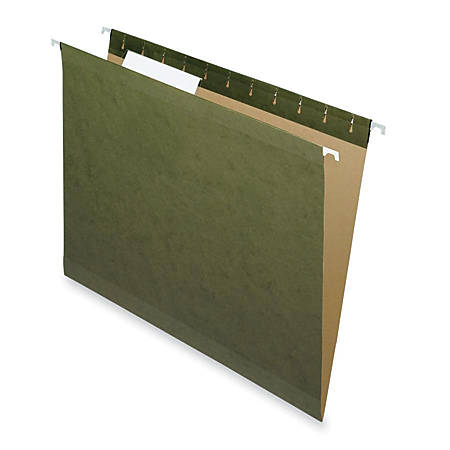 Pendaflex® Premium Reinforced Hanging Folders, No Tabs, Letter Size, Standard Green, Pack Of 25