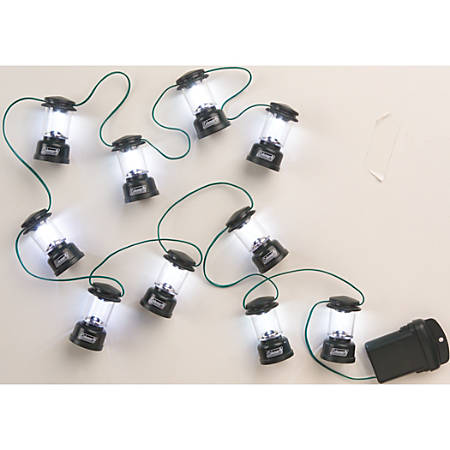 "Coleman® LED Mini Lantern String Lights, 80"" String, Green"
