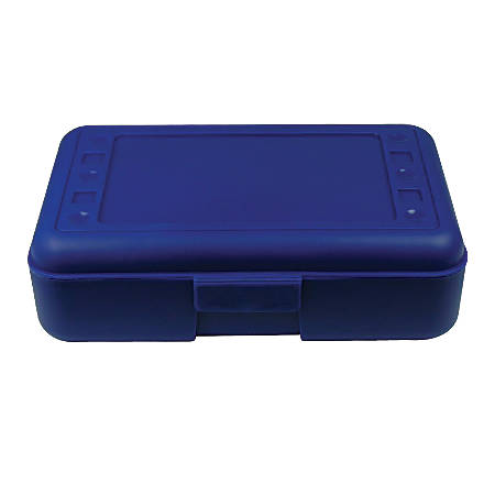 "Romanoff Products Pencil Boxes, 8 1/2""H x 5 1/2""W x 2 1/2""D, Blue, Pack Of 12"