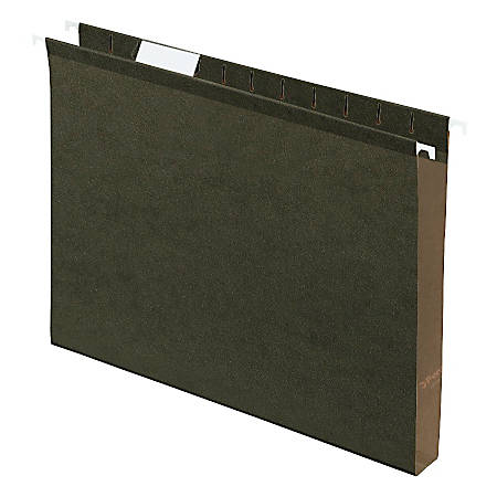 """Pendaflex® Premium Reinforced Extra-Capacity Hanging Folders, 1"""" Expansion, Letter Size, Green, Pack Of 25"""