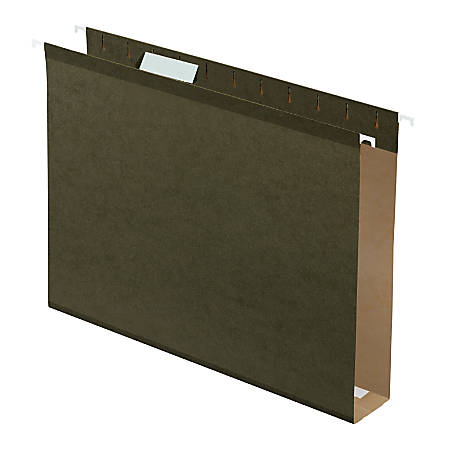 """Pendaflex® Premium Reinforced Extra-Capacity Hanging Folders, 2"""" Expansion, Letter Size, Green, Pack Of 25"""