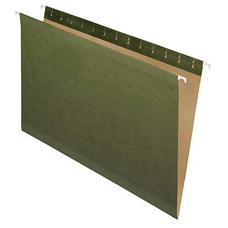 Pendaflex® Premium Reinforced Hanging Folders, No Tabs, Legal Size, Standard Green, Pack Of 25