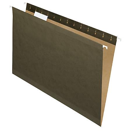 Pendaflex® Premium Reinforced Hanging Folders, 1/3 Cut, Legal Size, Standard Green, Pack Of 25