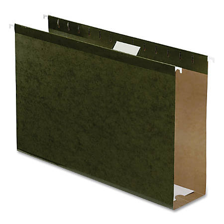 """Pendaflex® Premium Reinforced Extra-Capacity Hanging Folders, 3"""" Expansion, Legal Size, Green, Pack Of 25"""