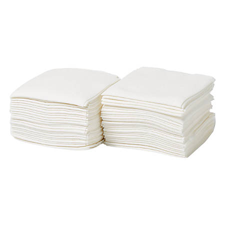 """Medline Deluxe Dry Disposable Washcloths, 13"""" x 20"""", White, Pack Of 50 Washcloths, Case Of 6 Packs"""
