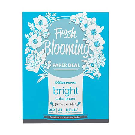 Office Depot® Brand Color Bright Copy Paper, Letter Paper Size, 24 Lb, Primose, 250 Sheets Per Ream