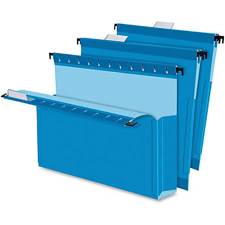 """Pendaflex® SureHook® Pocket Reinforced Box Files, 2"""" Expansion, Legal Size, Blue, Pack Of 25"""