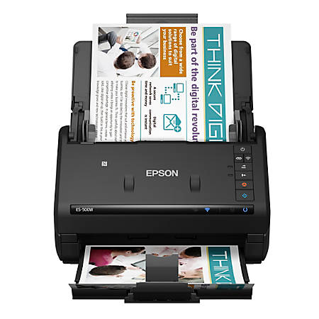 Epson® WorkForce ES-500W Wireless Color Duplex Document Scanner