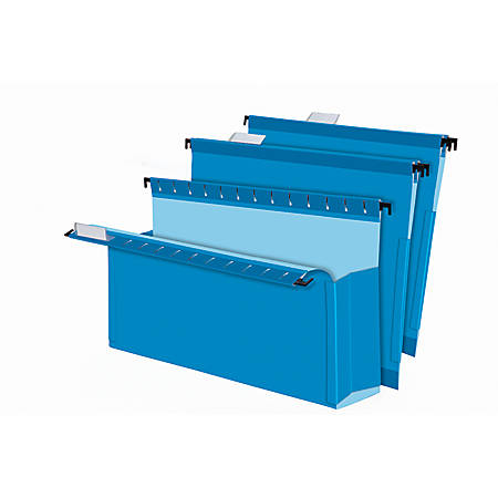 """Pendaflex® SureHook® Pocket Reinforced Box Files, 3"""" Expansion, Legal Size, Blue, Pack Of 25"""