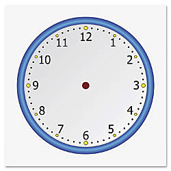 Flipside Static Cling Blank Clock Face