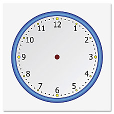 Flipside Static Cling Blank Clock Face