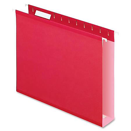 Pendaflex® Premium Reinforced Color Extra-Capacity Hanging Folders, Letter Size, Red, Pack Of 25