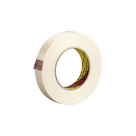 """3M® 898 Strapping Tape, 3/8"""" x 60 Yd., Clear, Case Of 96"""