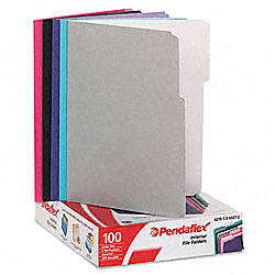 Pendaflex color interior file folders 13 cut letter size assorted colors 2 pack of 100 office for Pendaflex interior file folders