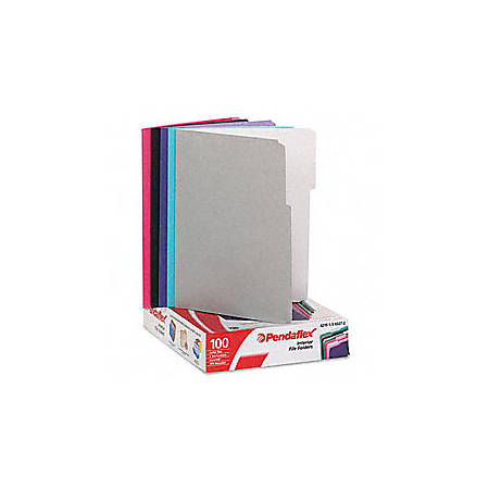 Pendaflex® Color Interior File Folders, 1/3 Cut, Letter Size, Assorted Colors #2, Pack Of 100