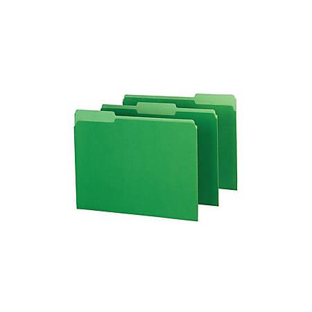 Pendaflex® Color Interior File Folders, 1/3 Cut, Letter Size, Bright Green, Pack Of 100