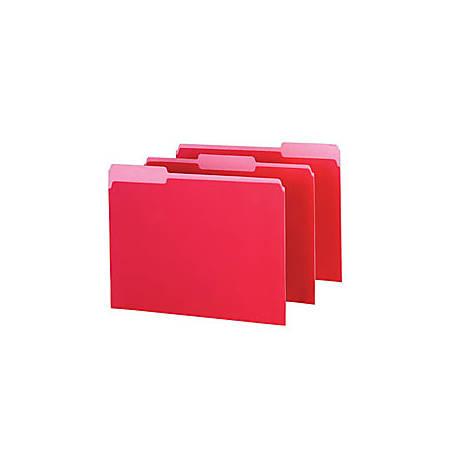 Pendaflex® Color Interior File Folders, 1/3 Cut, Letter Size, Red, Pack Of 100