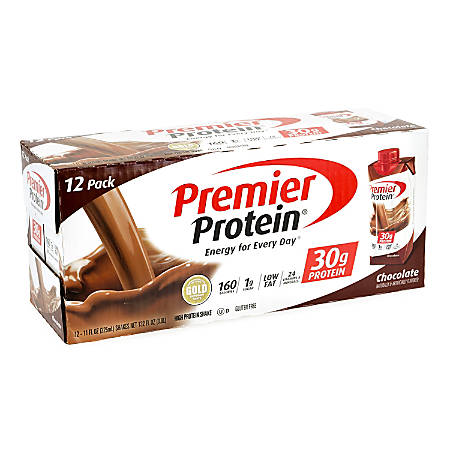 Premier Protein Chocolate Protein Shakes, 11 Oz, Pack Of 12