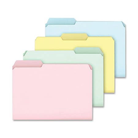 Ampad® Pastel Color File Folders, Letter Size, Box Of 100