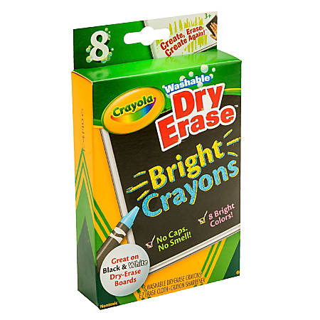 crayola dry erase crayons assorted pack of 8 by office depot officemax