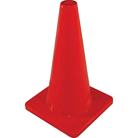"""Impact Products Orange Safety Cone - 1 Each - 18"""" Height - Cone Shape - Rugged, Flange - Orange"""