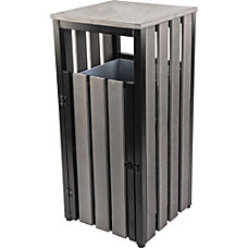 Lorell Outdoor Waste Bin Weather Resistant