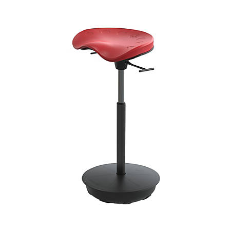 Safco® Active Focal Upright™ Pivot Seat, Chili Pepper Red/Black