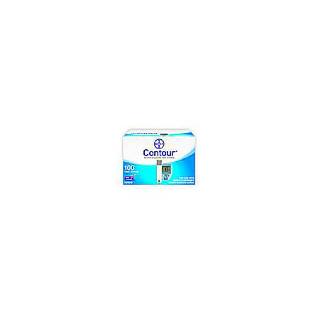 Bayer Contour® Blood Glucose Test Strips, Box Of 100