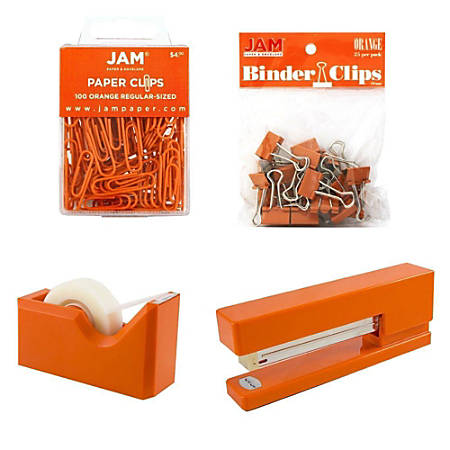 JAM Paper® 5-Piece Office Starter Kit, Orange
