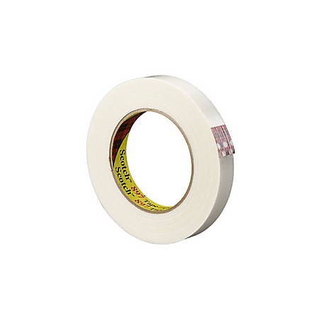 """3M® 897 Strapping Tape, 1/2"""" x 60 Yd., Clear, Case Of 72"""