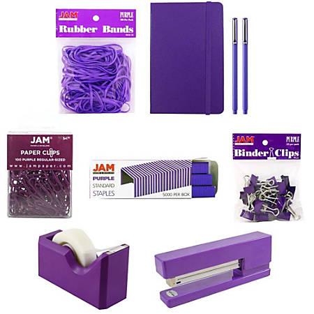 JAM Paper® 5-Piece Office Starter Kit, Purple