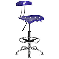 Flash Furniture Vibrant Drafting Stool Deep