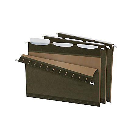 Pendaflex® Ready-Tab™ Reinforced Hanging Folders, With Lift Tab Technology, 1/3 Cut, Letter Size, Standard Green, Pack Of 25