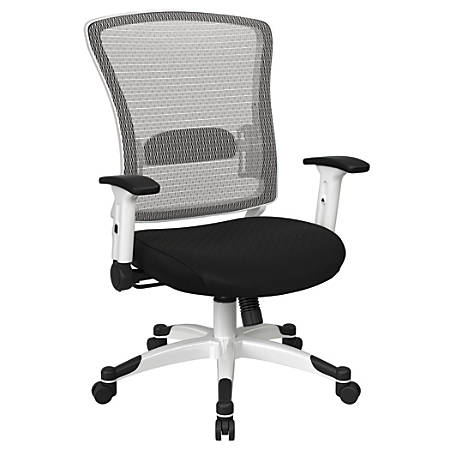 Office Star™ Space Seating Mesh Mid-Back Chair, Midnight Black/Ebony/White