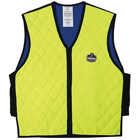 Ergodyne® Chill-Its® 6665 Evaporative Cooling Vest, X-Large, Lime/Black