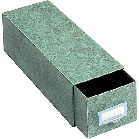 "Globe-Weis® 90% Recycled Index Card Storage Case, 3"" x 5"", Green"