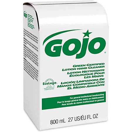 Gojo® Green Certified Lotion Hand Cleaner Refill - 27.1 fl oz (800 mL) - Hand - Green - 12 / Carton